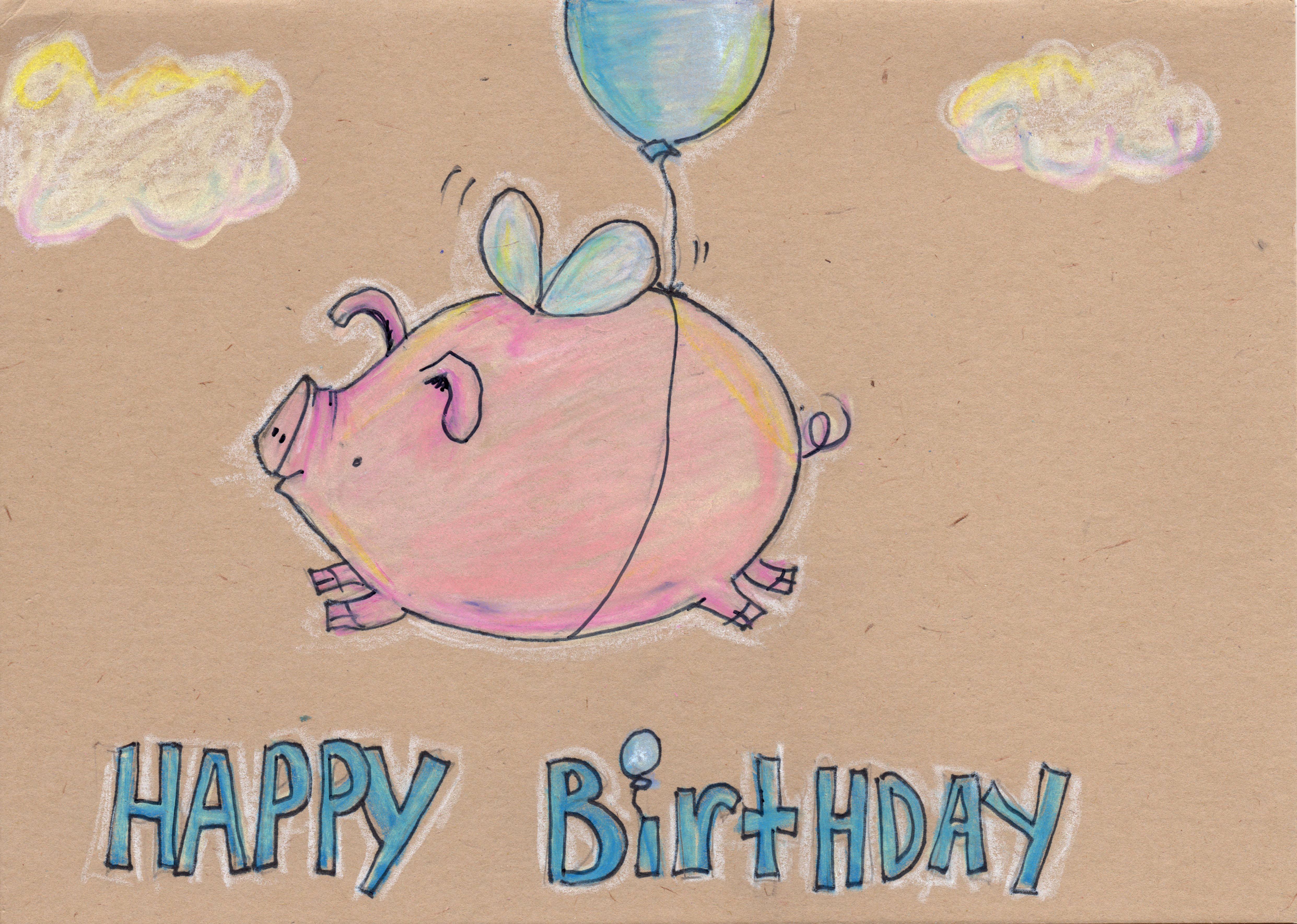 Поздравления свинье с днем рождения